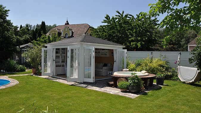Blockbohlenhaus einrichten urlaubsgef hl f r zu hause for Gartenhaus modern einrichten