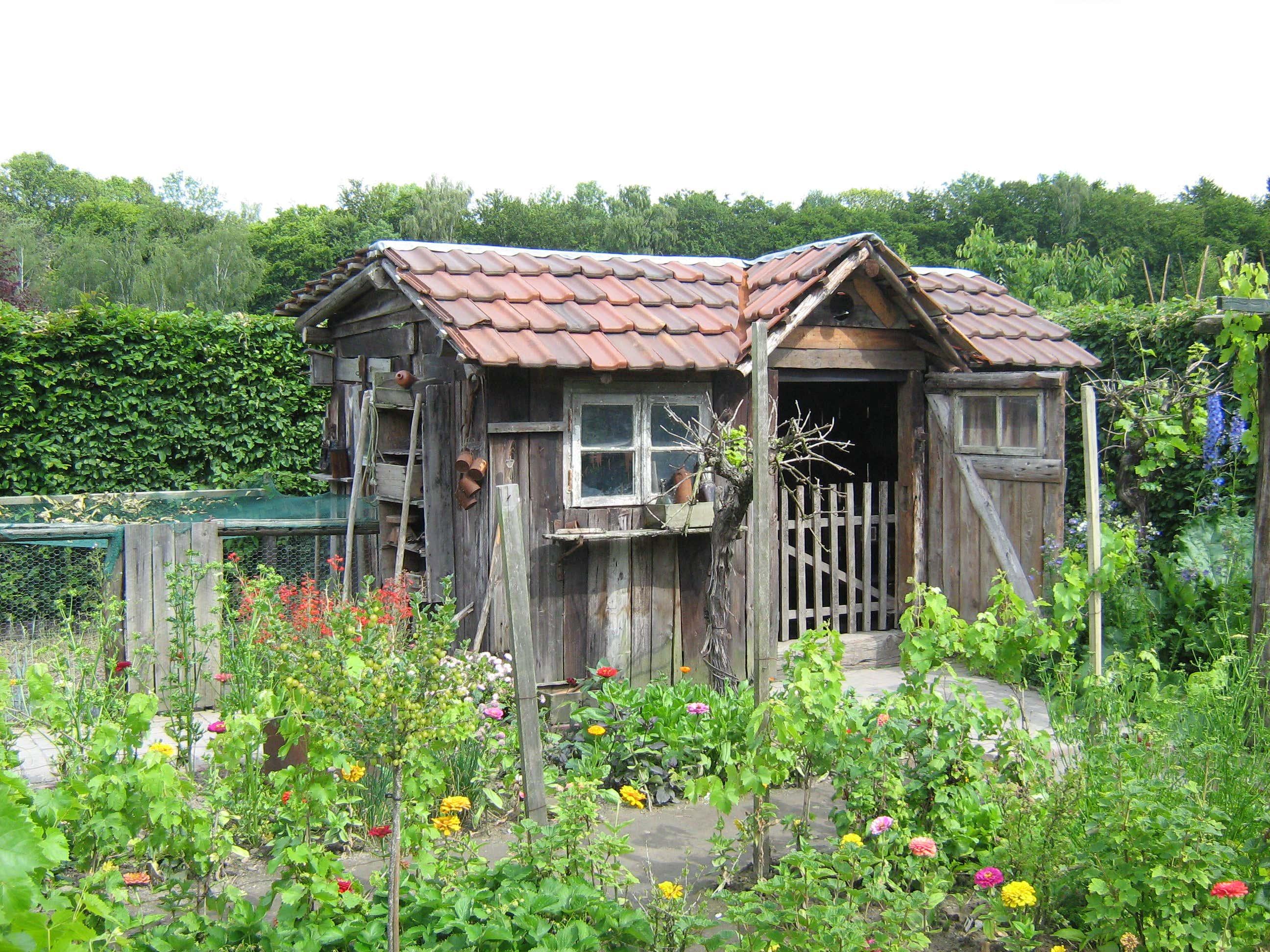 Gartenhaus Mit Fußboden Und Dach ~ Gartenhaus renovieren: so erneuern sie anstrich und dach