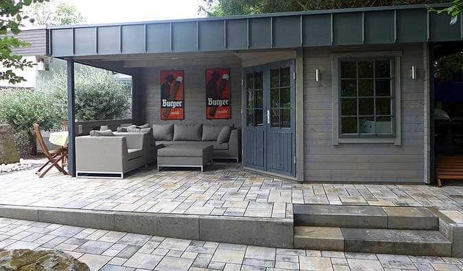Outdoor Küche Gartenhaus : Das gartenhaus hanna mit individuellem dach
