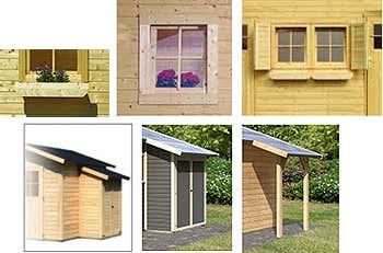 ein tonnendach gartenhaus von karibu. Black Bedroom Furniture Sets. Home Design Ideas