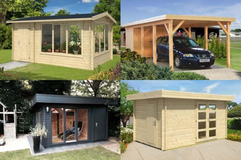 gartenhaus kombiniert gew chshaus carport oder sauna. Black Bedroom Furniture Sets. Home Design Ideas