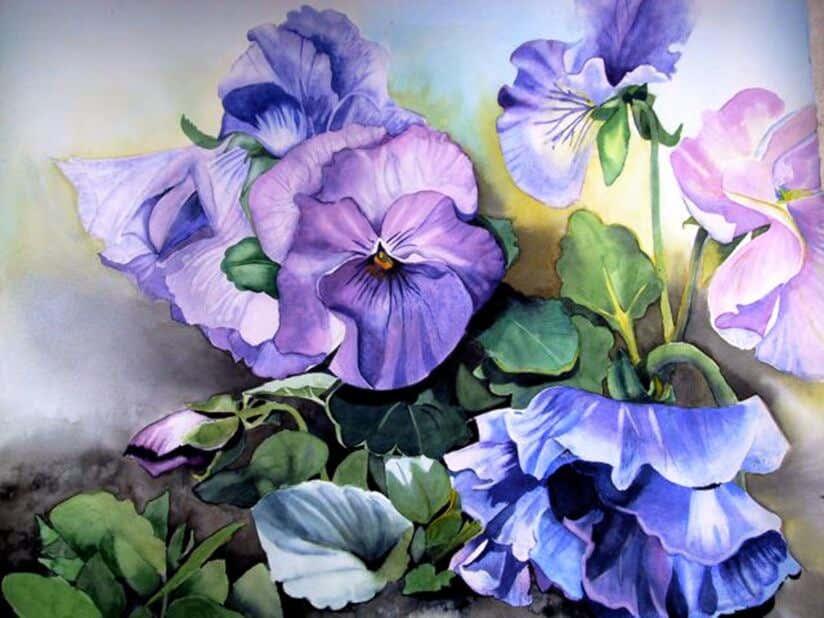 Garten Malerei Aquarell