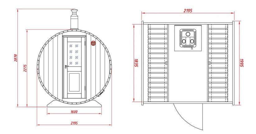 geburtstag mal anders saunafass mit z nftigem holzofen. Black Bedroom Furniture Sets. Home Design Ideas