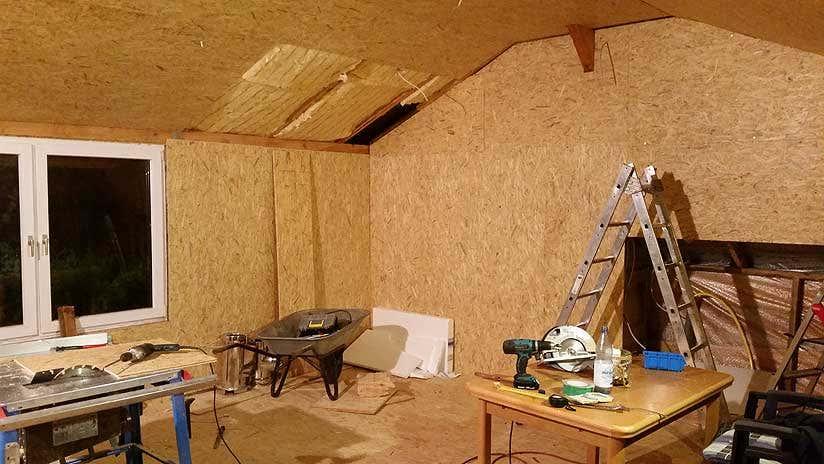 gartenhaus selber bauen ein eigenbau in 100 diy. Black Bedroom Furniture Sets. Home Design Ideas