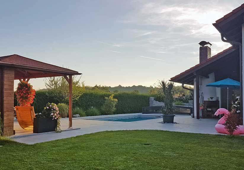 Gartenhaus Mississippi als Poolhaus und Freizeitrefugium