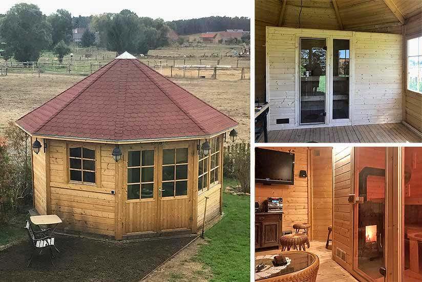 sauna im pavillon eine kreative ausbau idee zur gartensauna