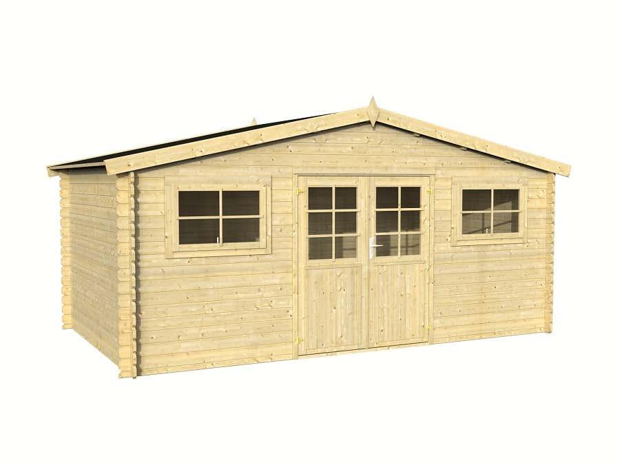 palmako gartenhaus ww 144 28 frg28 5030fsc a z. Black Bedroom Furniture Sets. Home Design Ideas