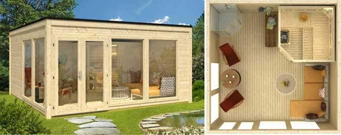 Saunahaus-Glas-Gartensauna-Einrichtung
