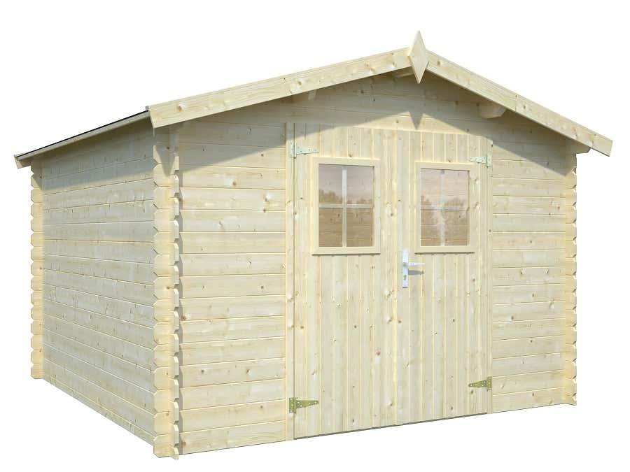palmako gartenhaus ww 116 19 frb19 2929fsc a z. Black Bedroom Furniture Sets. Home Design Ideas