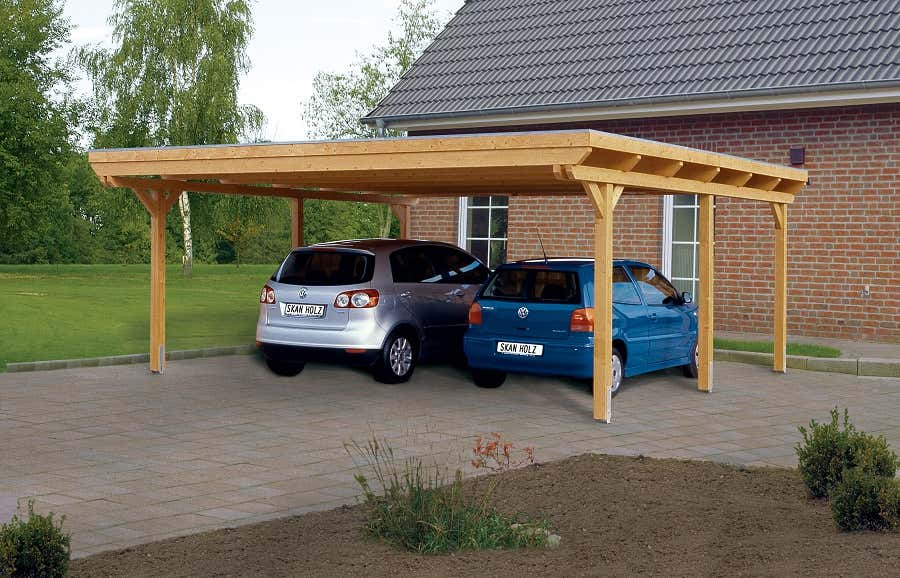carport emsland 613 x 846 cm mit abstellraum a z gartenhaus gmbh. Black Bedroom Furniture Sets. Home Design Ideas