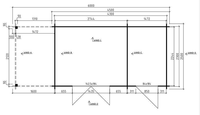 Grundriss-Gartenhaus-Bauzeichnung-Aufbau