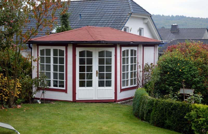 5 eck gartenhaus modell josephine 40 mit anbau a z gartenhaus gmbh. Black Bedroom Furniture Sets. Home Design Ideas